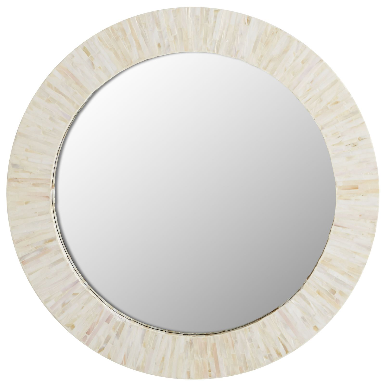 """Ivory Mother Of Pearl Floor Vase In 2019: Ivory Mother-of-Pearl 24"""" Round Mirror In 2019"""