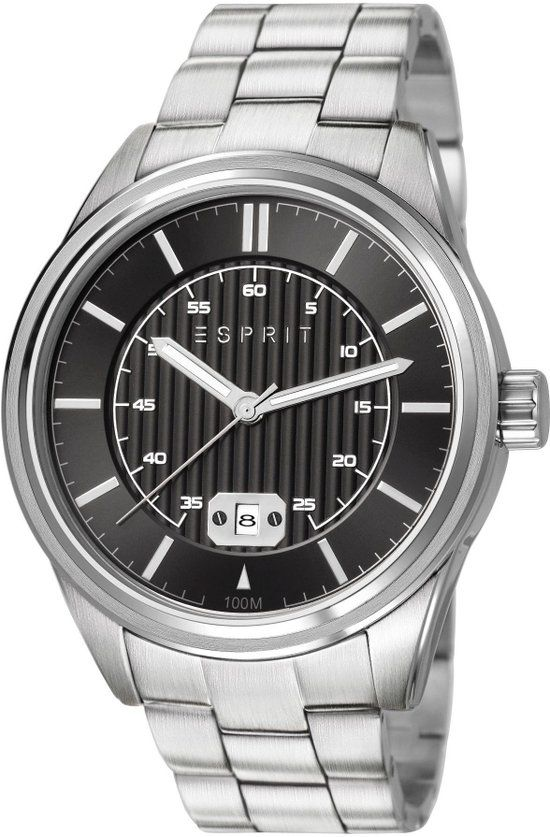 26046ae672 ESPRIT Heren Horloge - Ray Silver Black - ES107531005 | Horloges ...