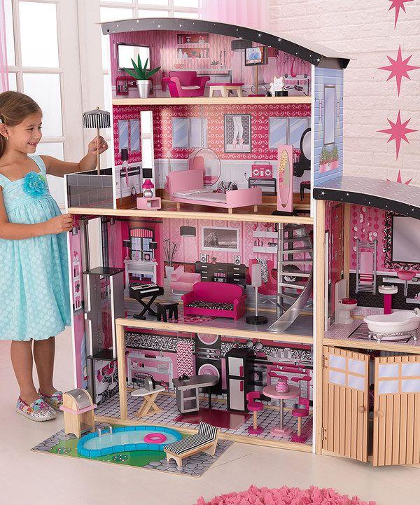 Look At This Sparkle Mansion Set On Zulily Today Casa De Mu 241 Ecas Barbie Casa Moderna De