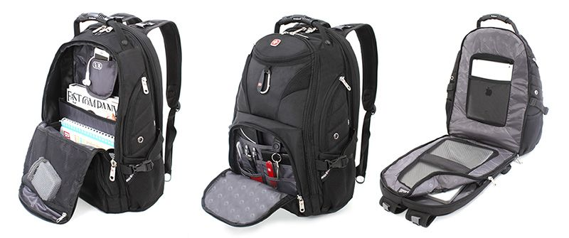 Swiss Gear SmartScan Laptop Backpack interior | Todo en uno ...