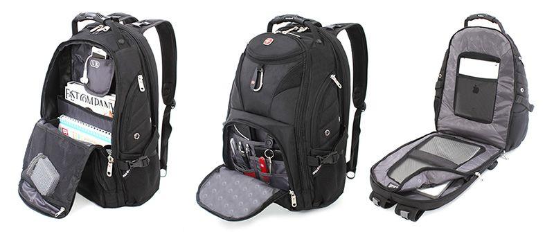 Swiss Gear SmartScan Laptop Backpack interior | Todo en uno ...