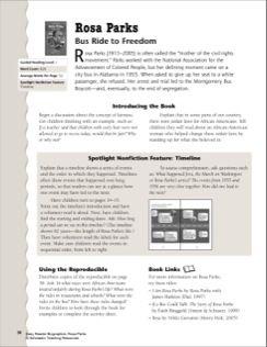 Rosa Parks: Lesson Plan & Worksheet | Library | Pinterest ...