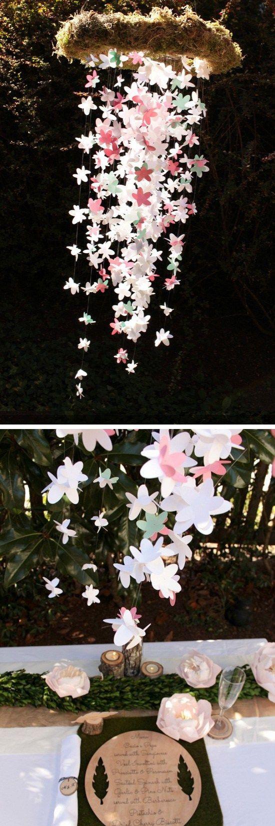 Paper Flower Wedding Chandelier  Click Pic for  DIY Spring