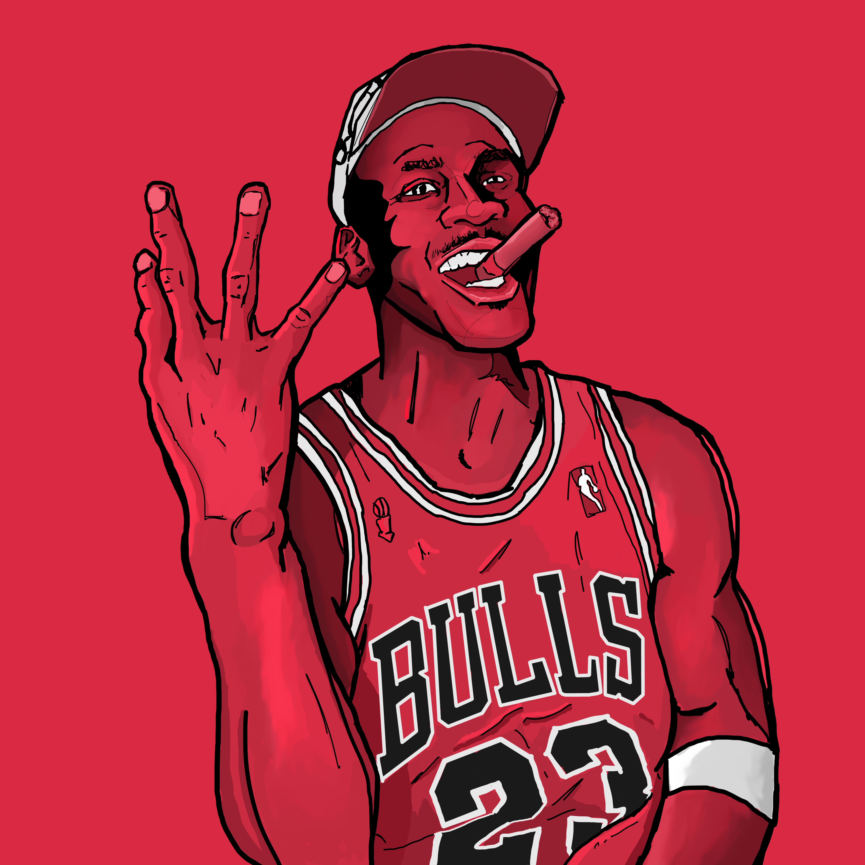 Portrait Of Michael Jordan Chicago Bulls Desenhos Aleatorios Desenhos