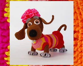 Amigurumi Wiener Dog Pattern : Amigurumi pattern crochet tabby positive dog amigurumi dog