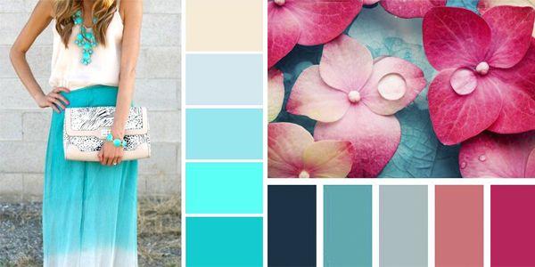 Como Combinar El Azul Turquesa En Tu Ropa Combinaciones De Colores Azules Azul Turquesa Turquesa
