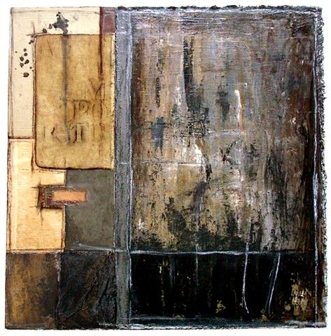 crystal neubauer collage mixed media salvaged oil painting