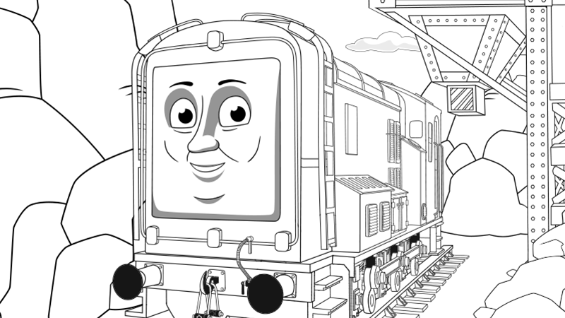 Thomas The Train Coloring Pages Diesel Train Coloring Pages Coloring Pages Thomas And Friends Games