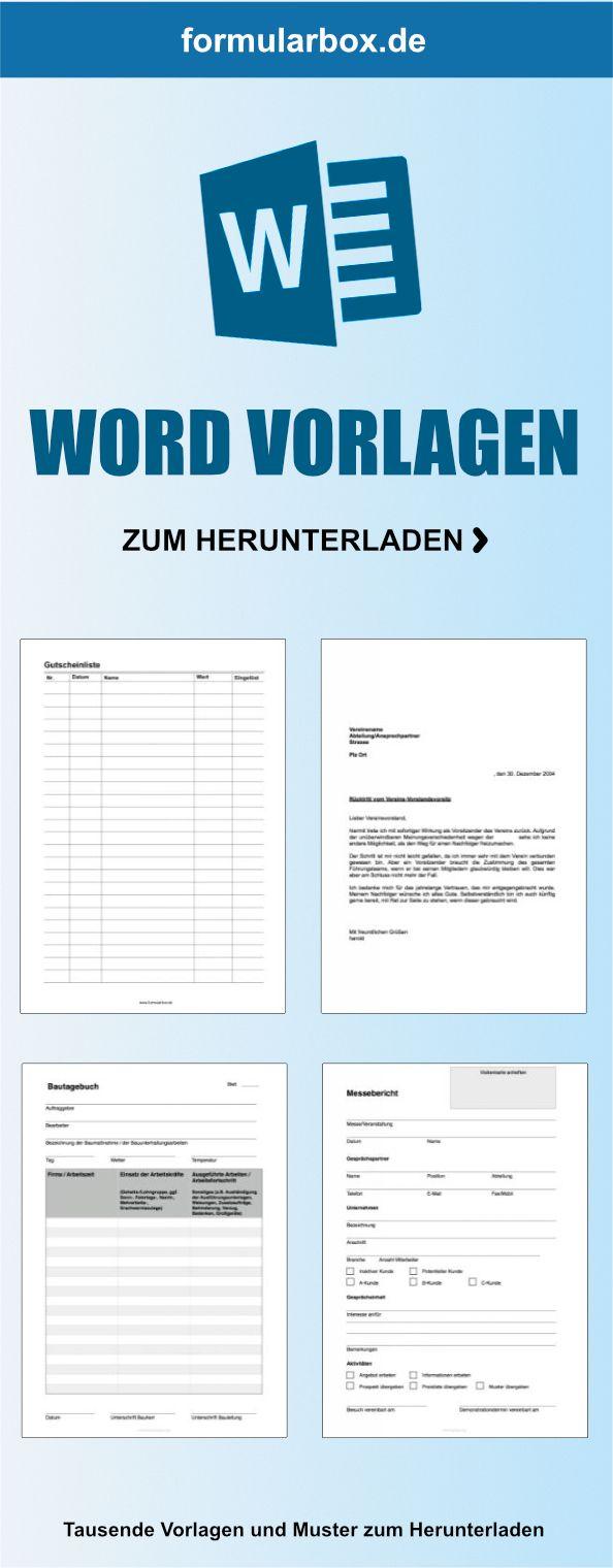 Word-Vorlagen zum Herunterladen