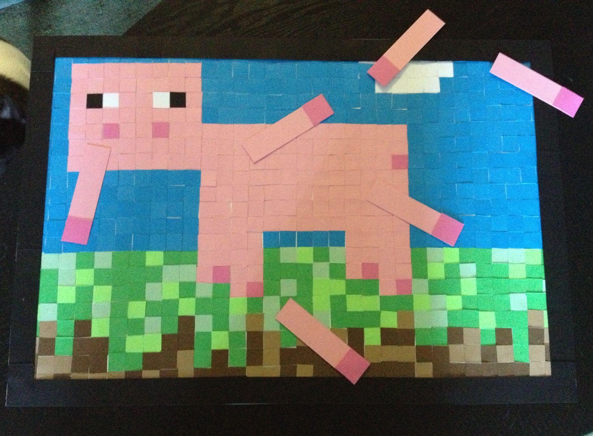 Minecraft Pin the Tail on the Pig minecraft   Minecraft birthday ...