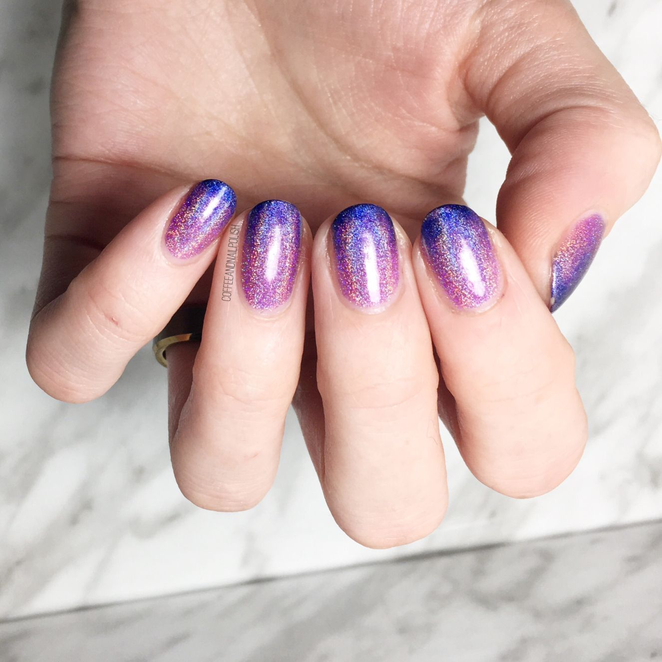Pink Purple Blue Holo Gradient | Blue and purple, Pink purple, Holo nails