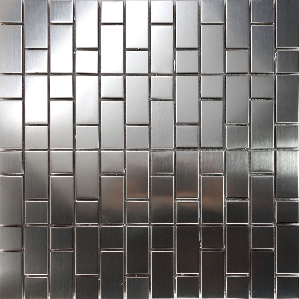 Sample Stainless Steel Metal Pattern Mosaic Tile Kitchen: Details About 1SF Stainless Steel Brushed Nickel Pattern