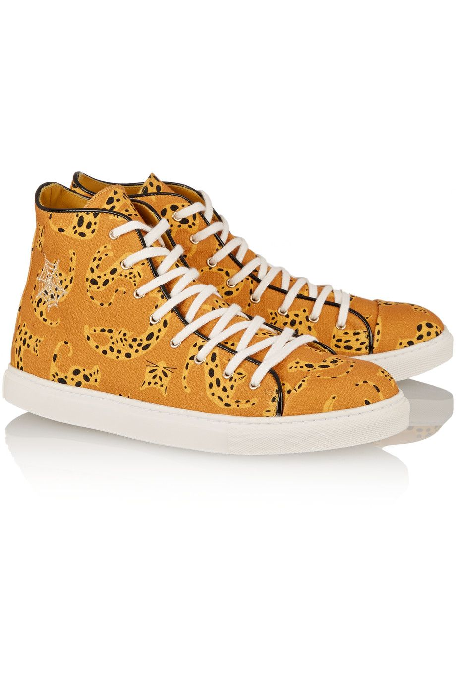 Charlotte OlympiaPrinted canvas high-top sneakers