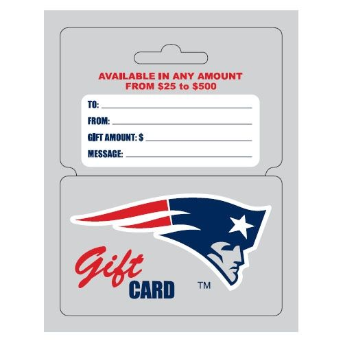 Patriots ProShop Gift Cards | My Patriots Holiday Wish List ...