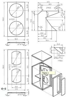 planos bafles cajas acusticas 15 15 18 audiocar