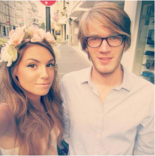 Pewdiepie And Marzia are just toooo cute for me OMG :~ she's so pretty and I love her accent, and Felix is just hilarious! If someone told me to pick a favorite I'd brofist their face.