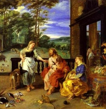 Peter Paul Rubens: Cristo en casa de Marta y María.