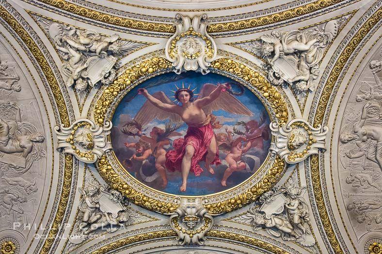 Ceiling Art Musee Du Louvre Paris Photo Ceiling Art Musee Du Louvre Louvre Museum