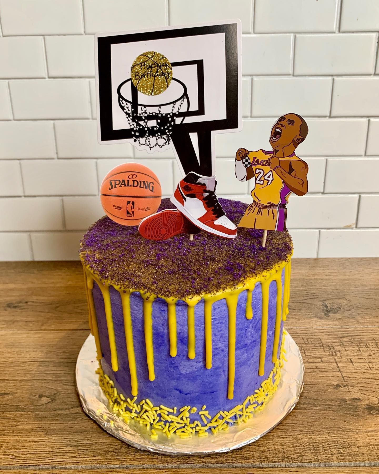 Chocolate Lakers cake 🥳 lakers kobebryant 417