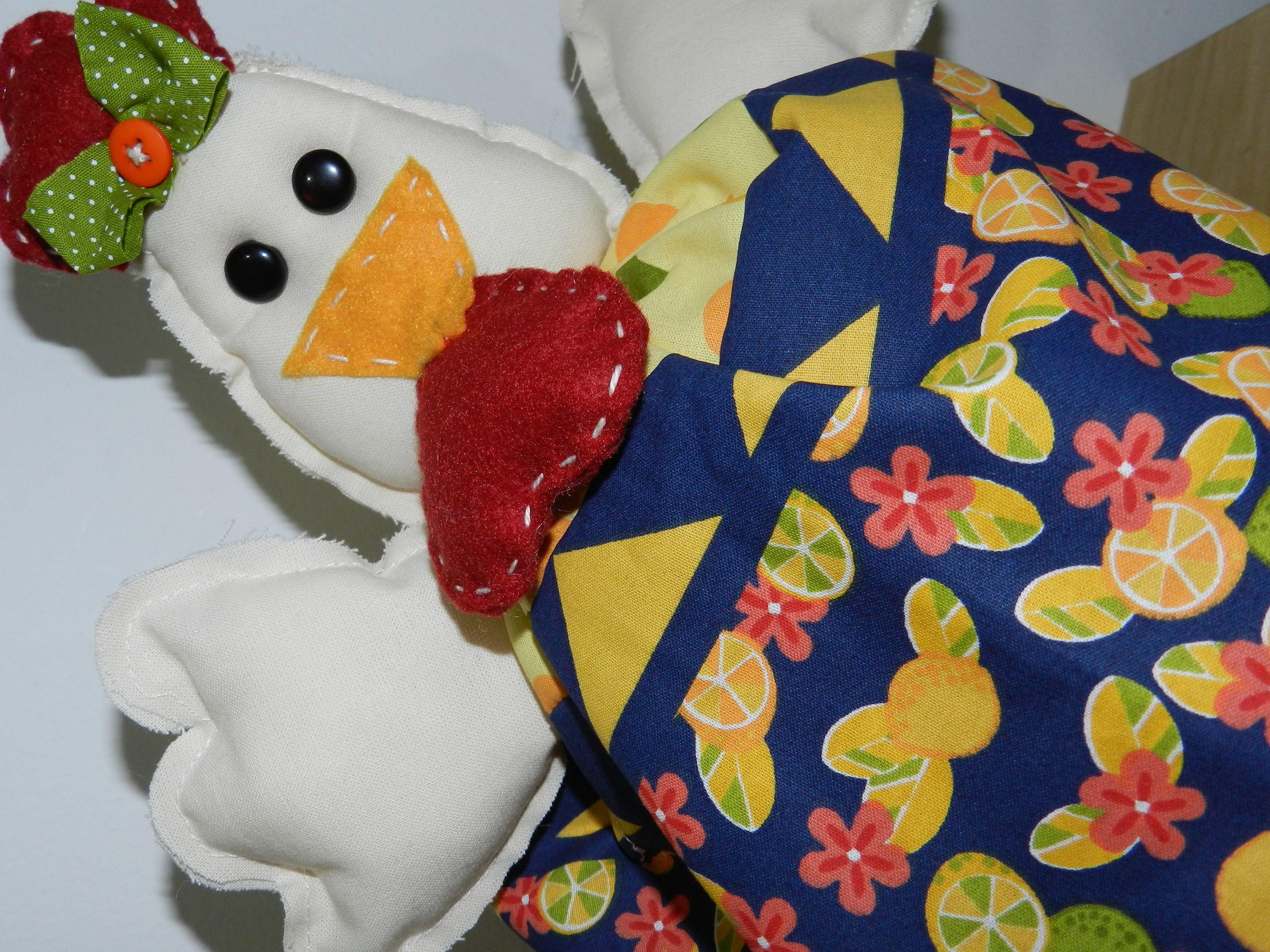 Patchwork  - galinhas.... presente para Andréia