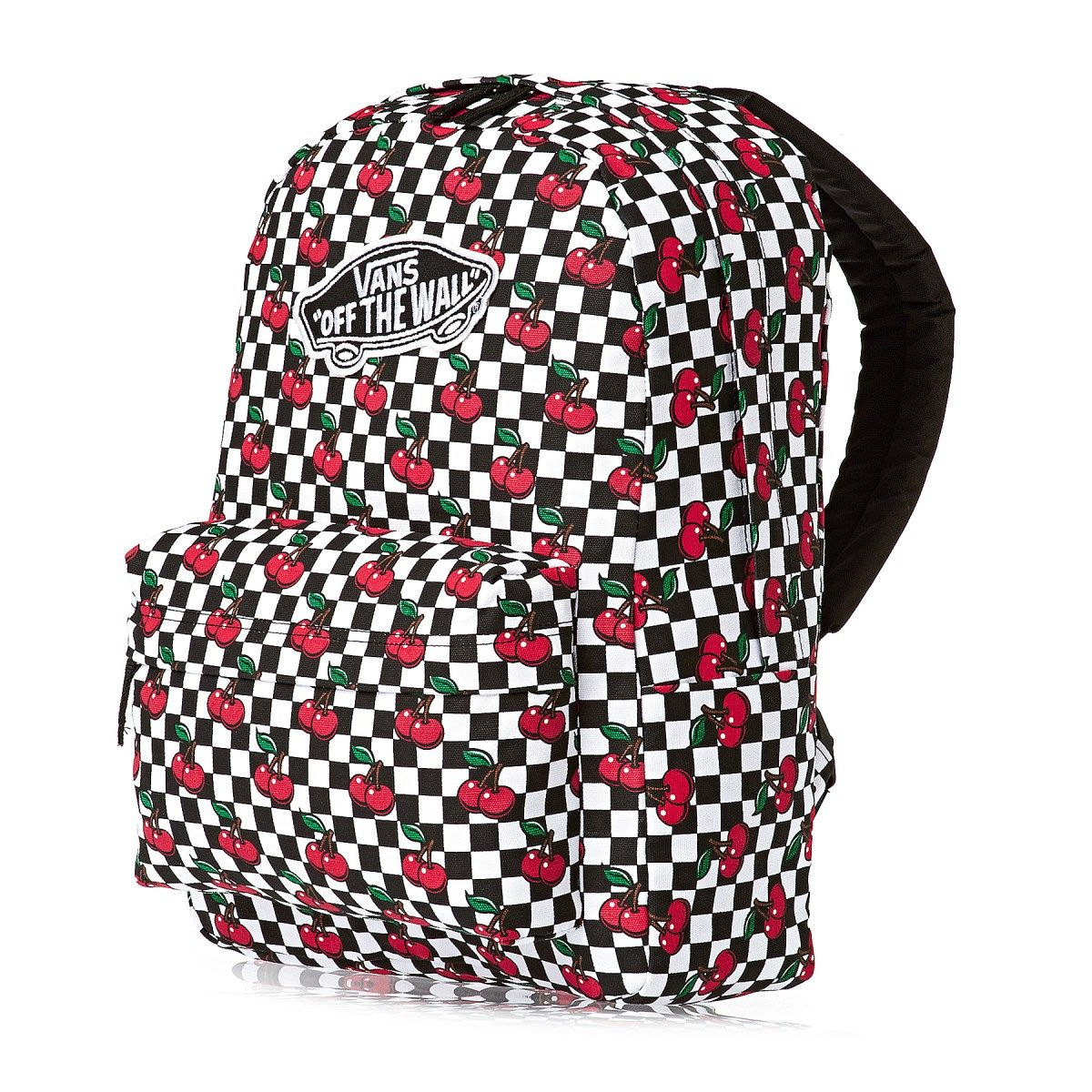 1c15a211b Women's Vans Backpacks - Vans Realm Backpack - (cherry Checkers) Black/true  White