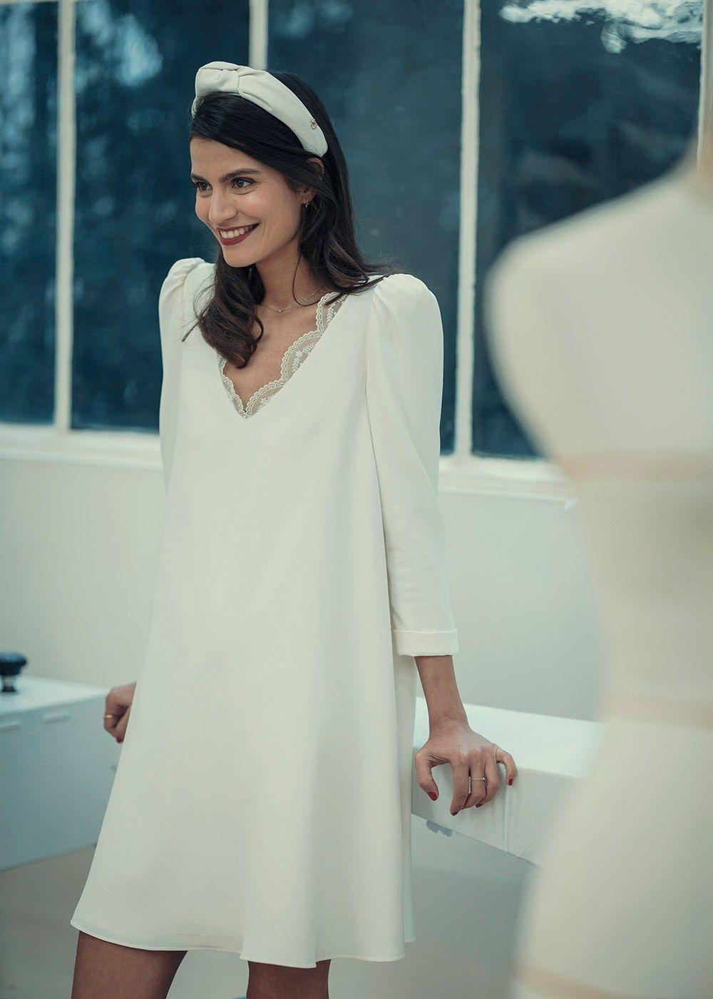 Brautkleid Chedid | Standesamt | french chic #zivilhochzeitskleider