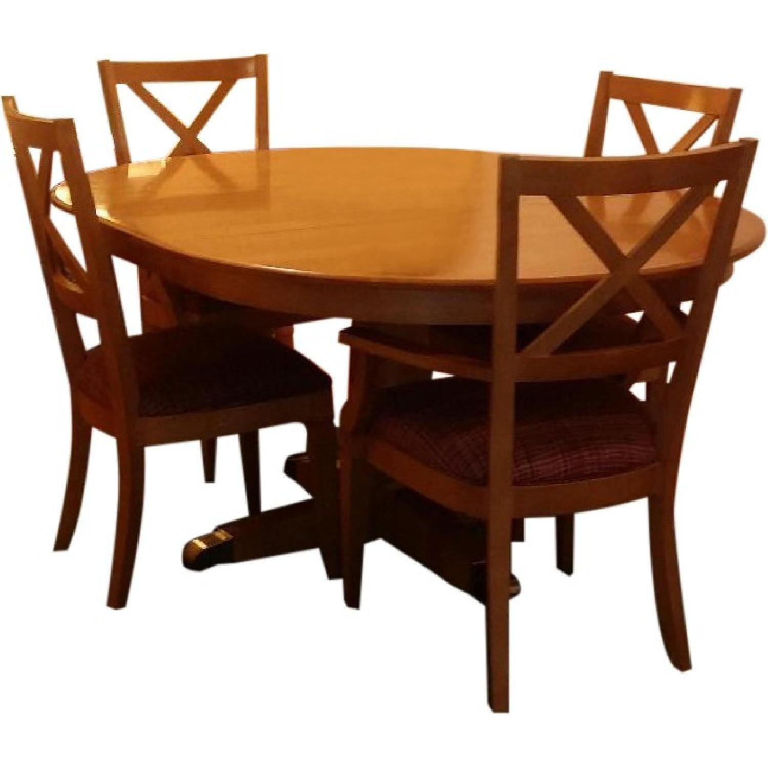 Ethan Allen Elements Dining Table Dining Table Table Crossback