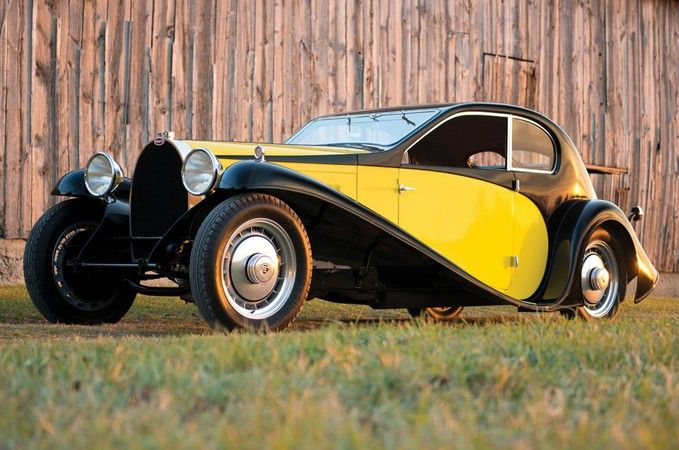 1930 Bugatti Type 46 Superprofile Coupe - The Type 46 uses a 5.4-liter straight-eight making 140 horsepower. The Coupe Profilée (as Jean's original drawings were officially referred to) bodystyle was never applied by the factory to a Type 46.