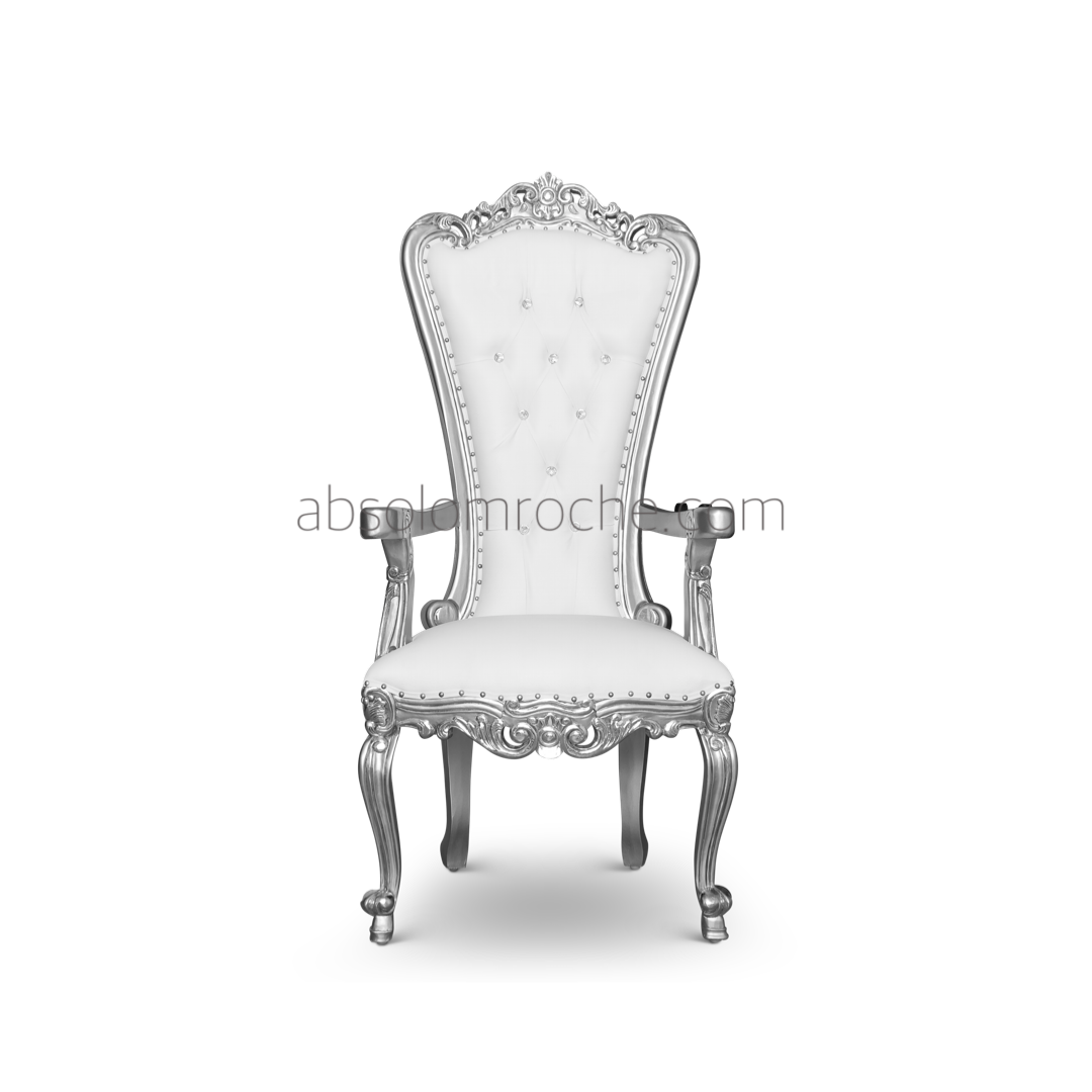 Superb Bonus Deal Absolom Roche Petit Chair Silver White Andrewgaddart Wooden Chair Designs For Living Room Andrewgaddartcom