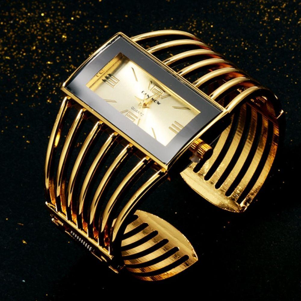 Cansnow Rose Gold Bangle Watch Women The Gadget Hawk Armbanduhr Damen Uhr Rosegold Goldene Armbanduhr