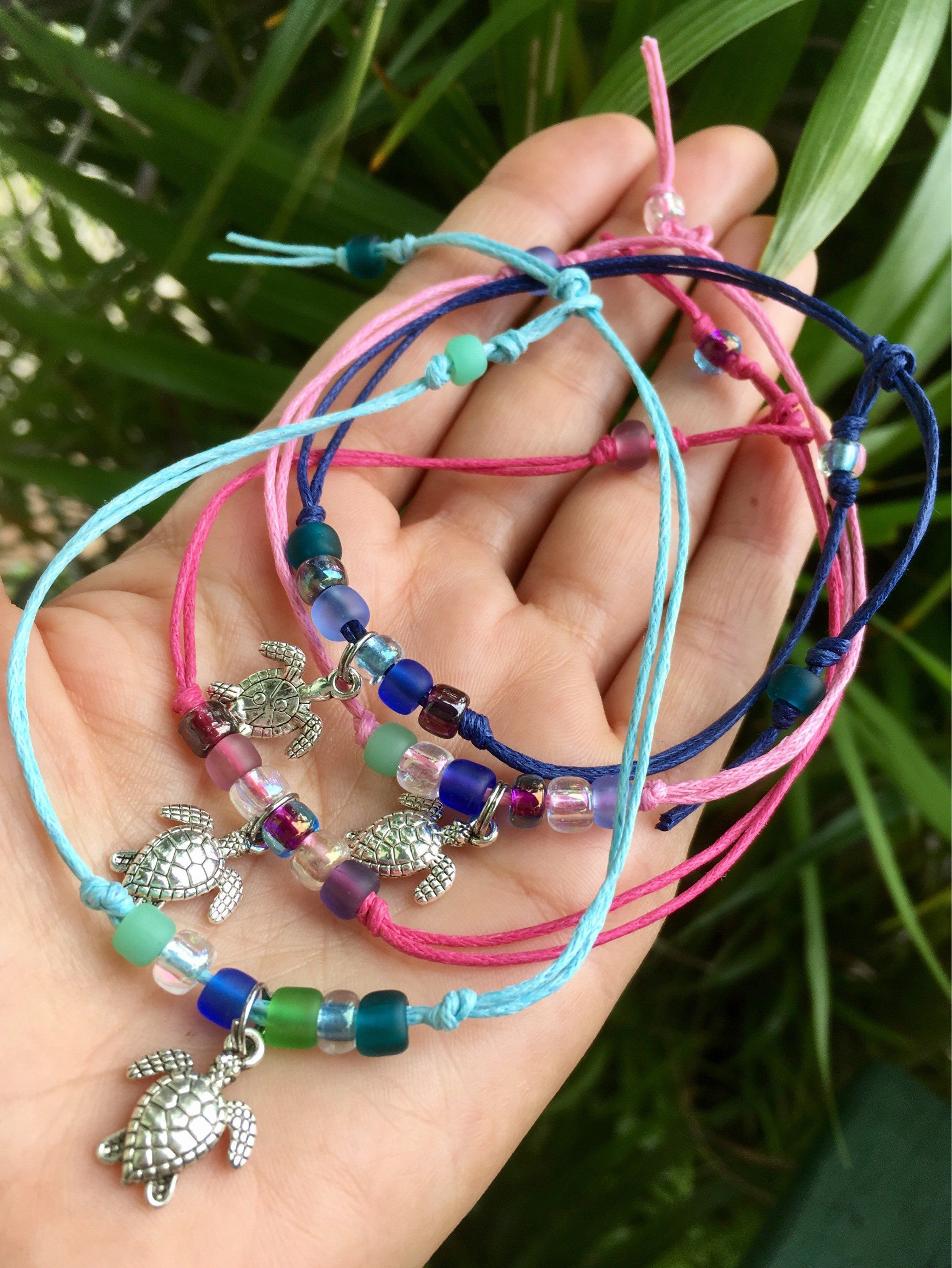 d63b216bfb4 turtle bracelet, sea turtle anklet, hawaiian gift, friendship bracelets,  gift for her, beach jewelry, gift for girls, group gift, team gift