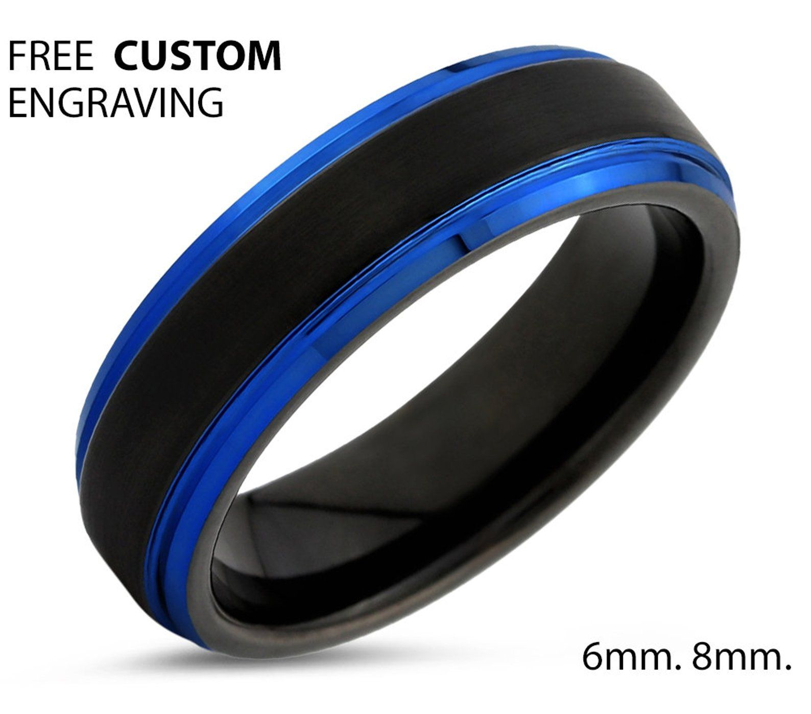 LIMITED SALE, Tungsten Ring Free Engraving, Mens and Women