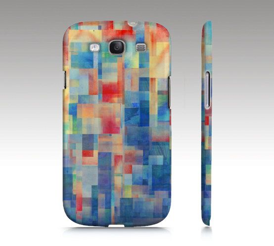 Samsung Galaxy S3 case, Galaxy S4 case, modern art, cubism, geometric design, collage art for your phone
