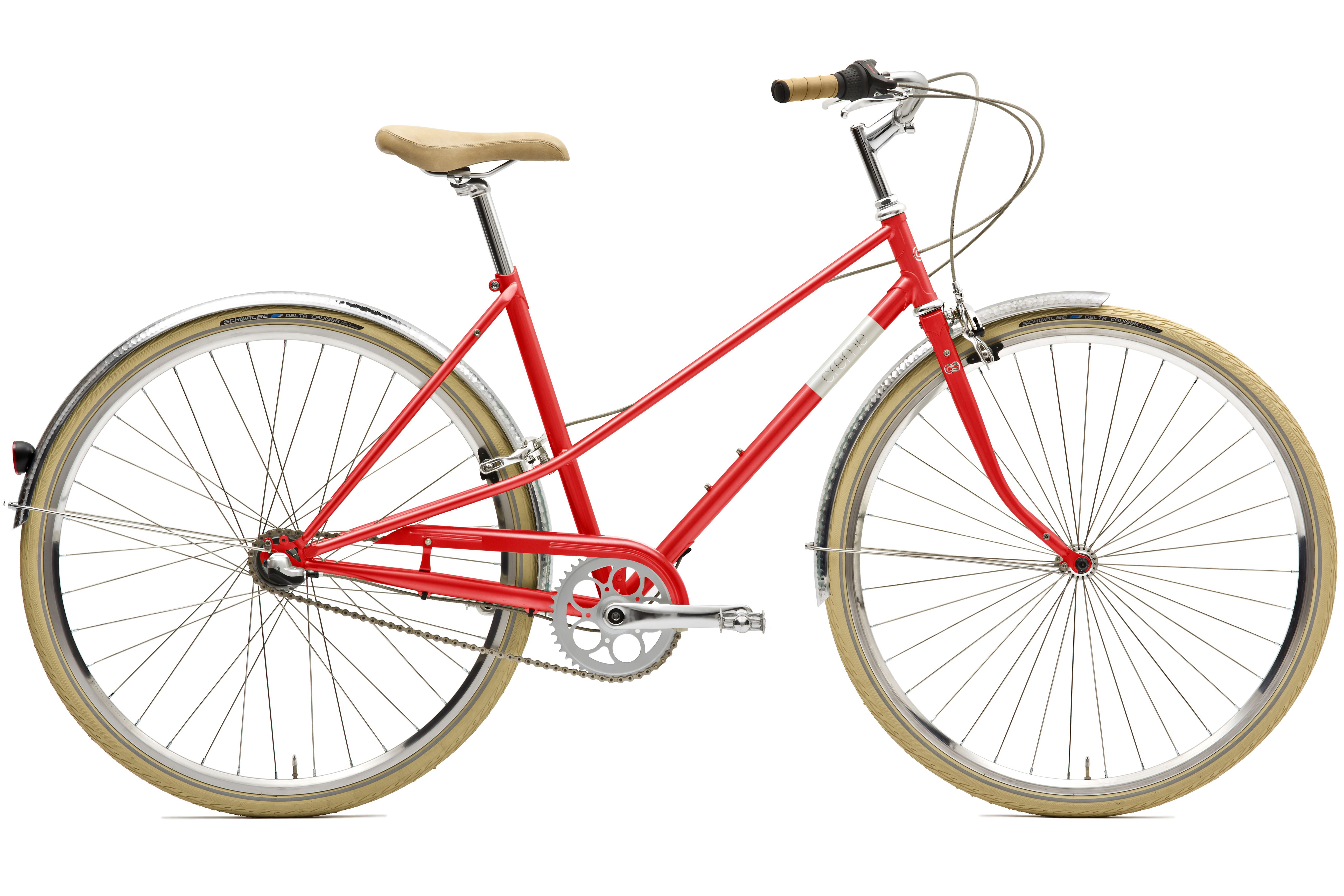 caferacer lady solo red creme bikes commuter bike. Black Bedroom Furniture Sets. Home Design Ideas