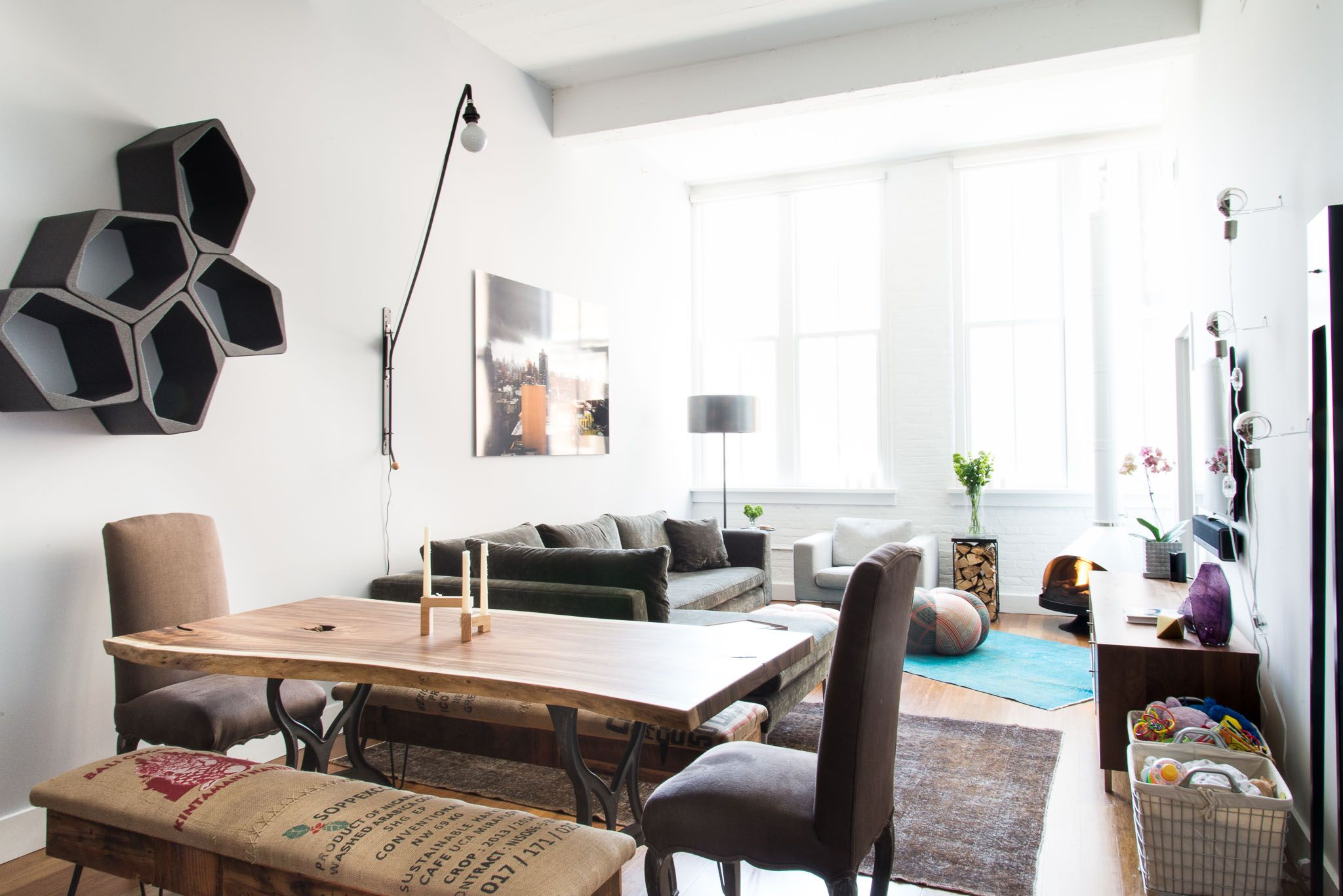 A Young Family\'s Brooklyn Home | Apartments, Shelves and House