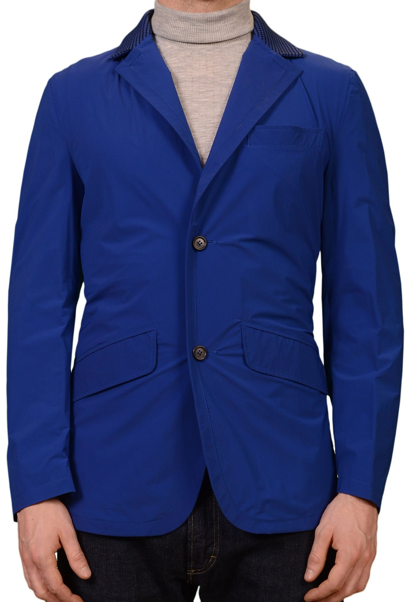 K. Punto Rosso by KITON Napoli Blue Spring Jacket Blazer EU 50 NEW US 40