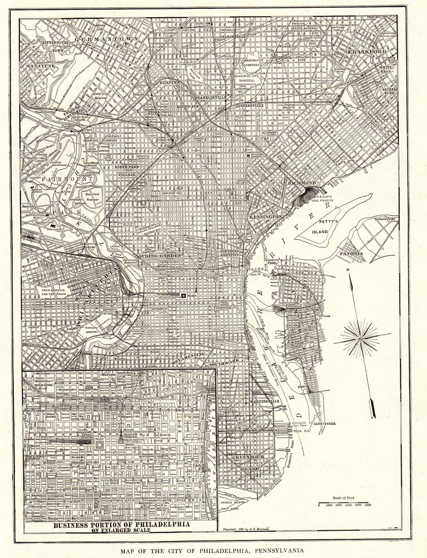 It is an image of Printable Maps of Philadelphia within pennsylvania