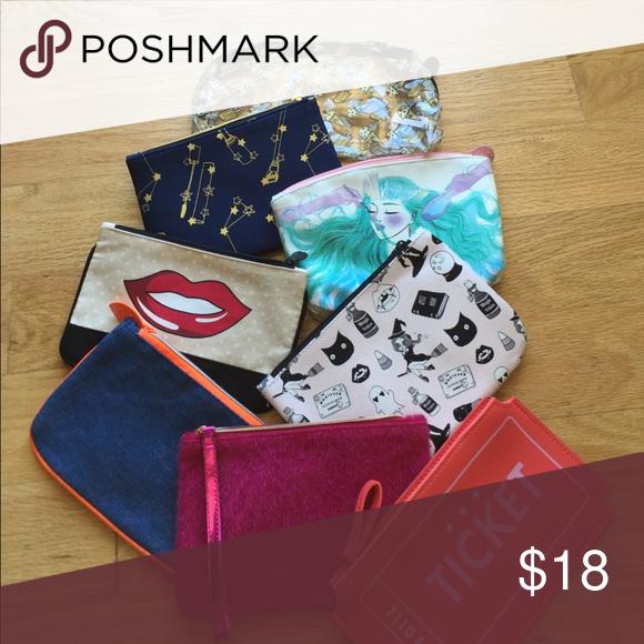 Makeup Bag Bundle‼️ Adorable makeup bags in all different