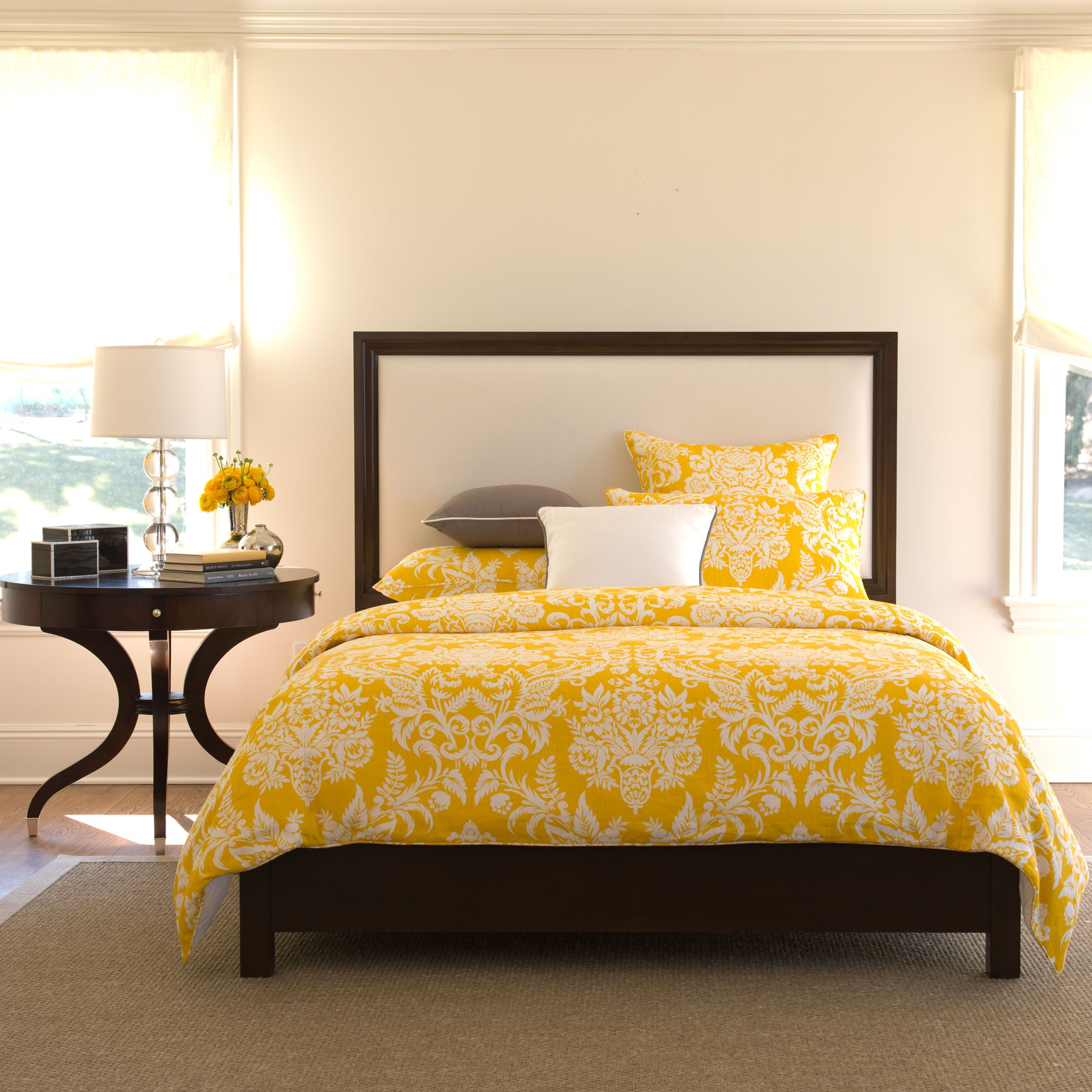 This Ethan Allen bedroom is featured in the colour Freesia ...