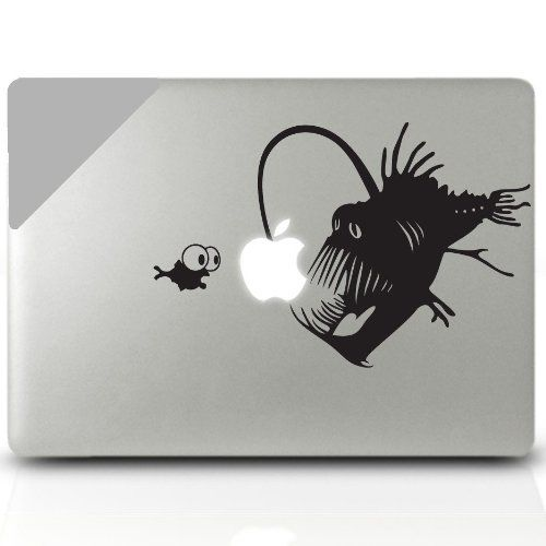 Amazon com angler fish macbook decal laptop sticker decorative computer accesory electronics mac book