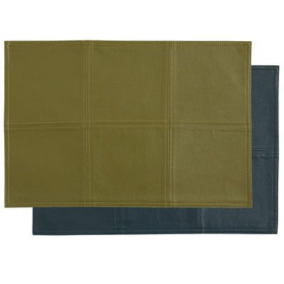 Faux Leather Reversible Placemat Avocado Teal 2 Pier 1 Faux Leather Placemats Linen Placemats