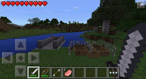 If you have version 0111 or higher, you can build a boat ramp! Add