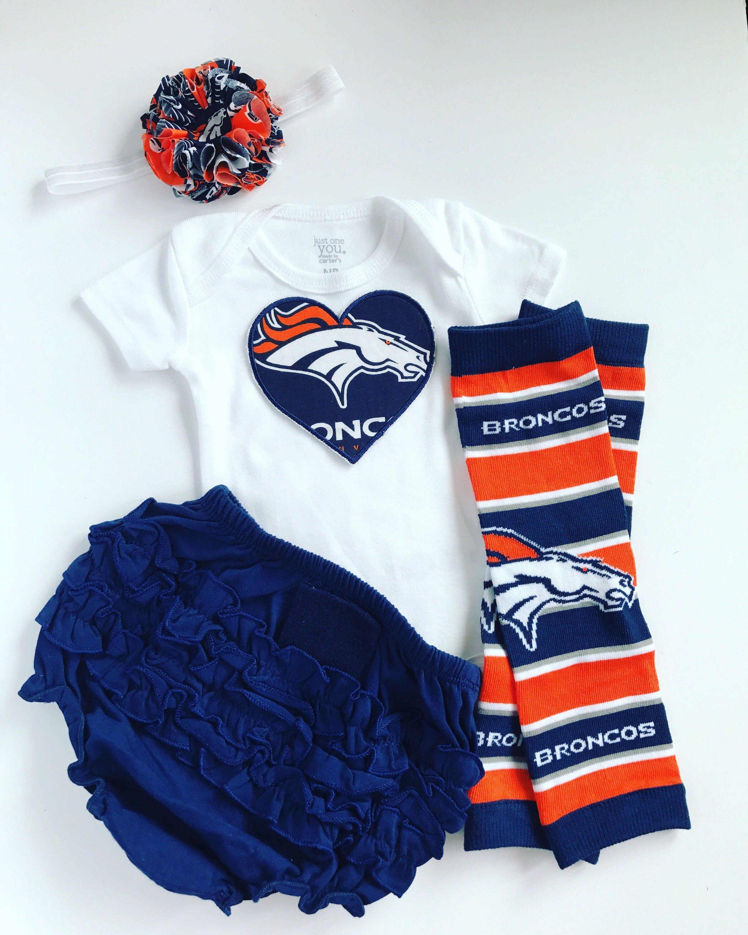 6f0f8bb0 Baby Girl Denver Broncos Heart Outfit- with matching legwarmers ...