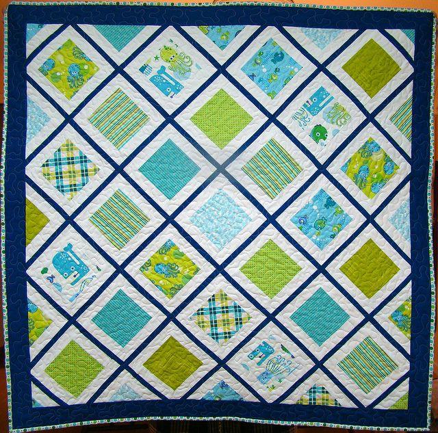 deep deep sea baby quilt by sewcraftyjess, via Flickr
