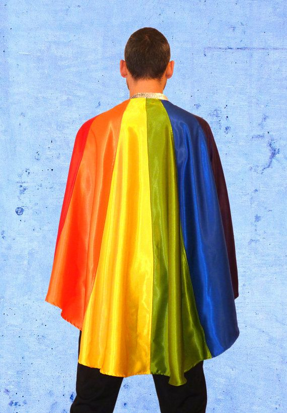 9bdb9e3e03ce LGBT Gay rainbow pride flag cape clothing outfit