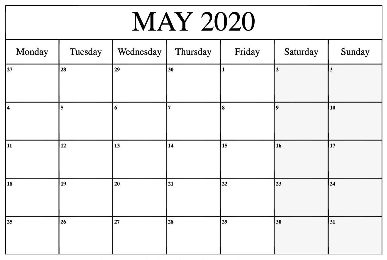 Floral May 2020 Calendar Cute Printable Template Hd Wallpaper