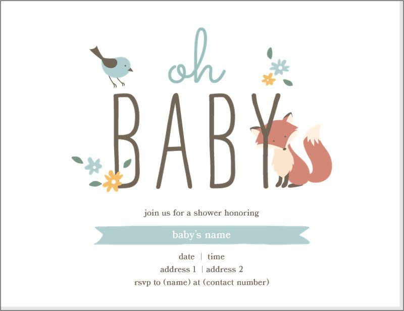 Baby Shower Invitations Announcements Templates Designs