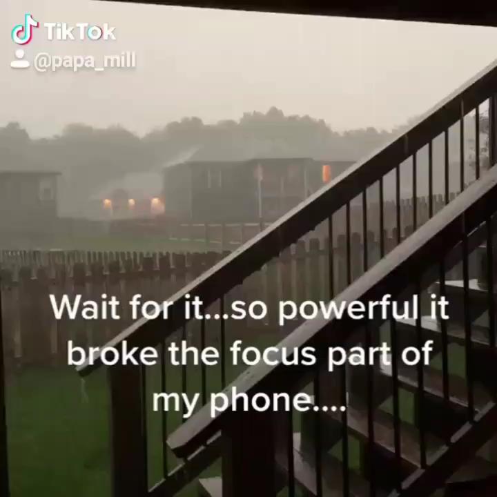 Powerful lightening strike destroys phone focus lens