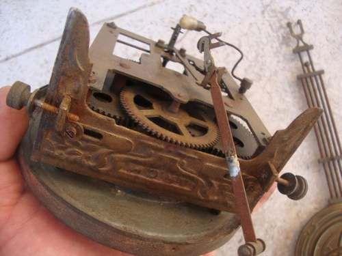 Antigua Maquina De Reloj De Pared Pendulo Soporte Llave 1 600 00 Reloj De Pared Antigua Pendulo