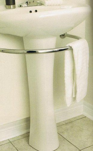 If A Pedestal Sink Is What Needed In The Small Br Then This Necessity Hardware That Saves E With Style Towel Bar